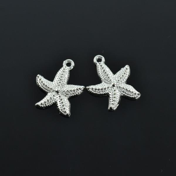 15 pcs Silver starfish Charm Charms 23 mm 19mm