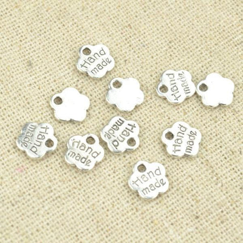 150 Pcs 8*8 mm Hand Made Charms Charm