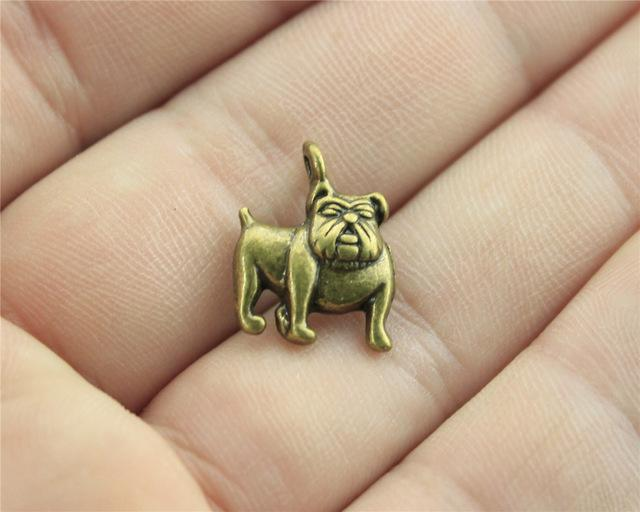 15pcs Bulldog Charms, Cute Dog Charms - mobile-boutique.com