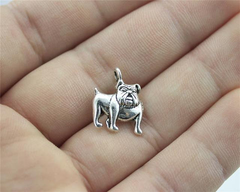 15pcs Bulldog Charms, Cute Dog Charms