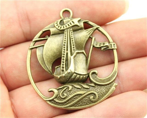 1pc  Pirate Sailboat Charms - mobile-boutique.com