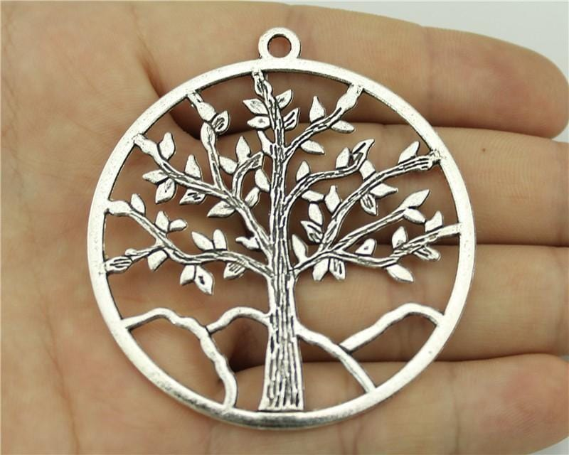 1pcs antique silver tone tree charms - mobile-boutique.com