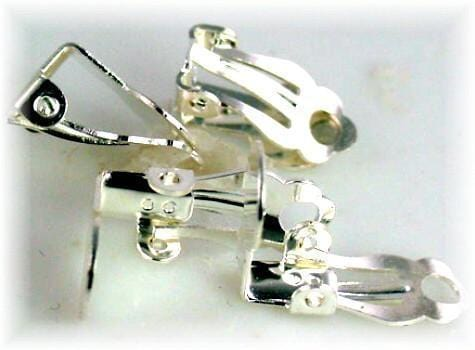 2 pairs silver earring mounts 6043-CL2