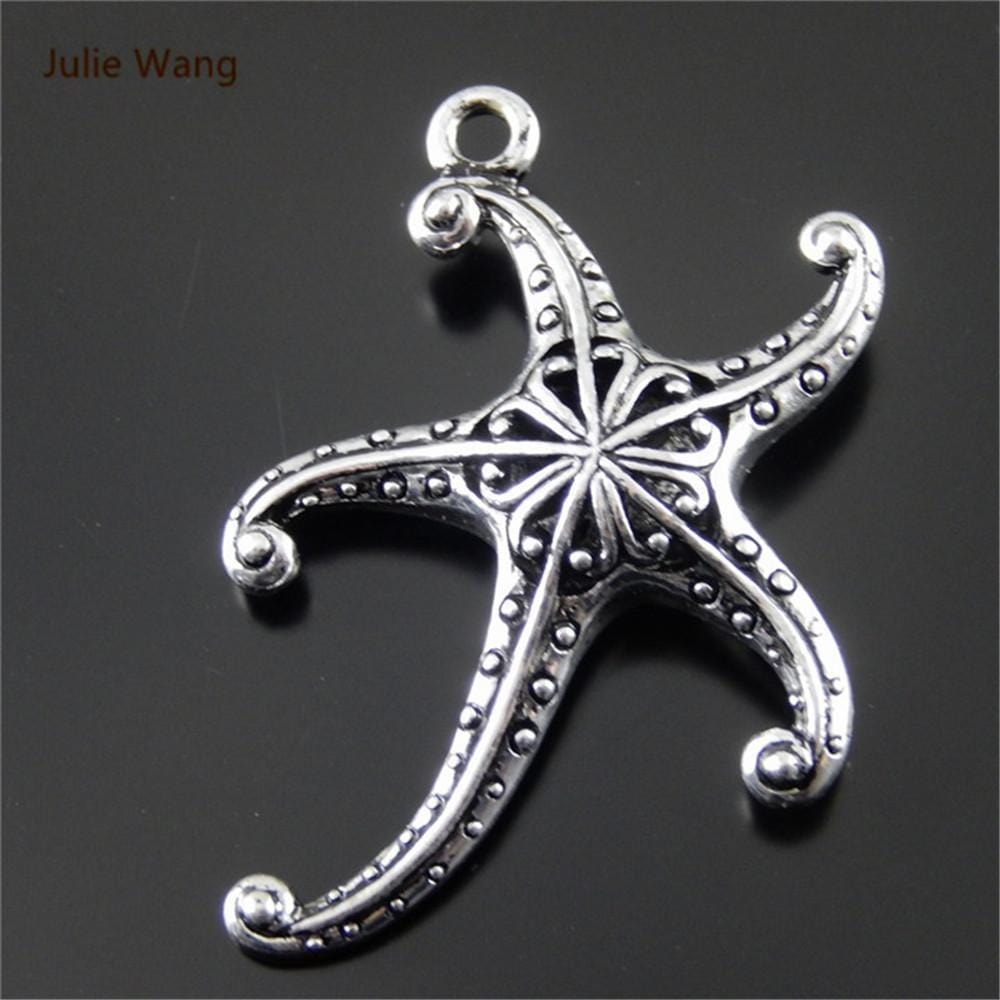 2 PCs Antique Silver Charms with Amazing Texture
