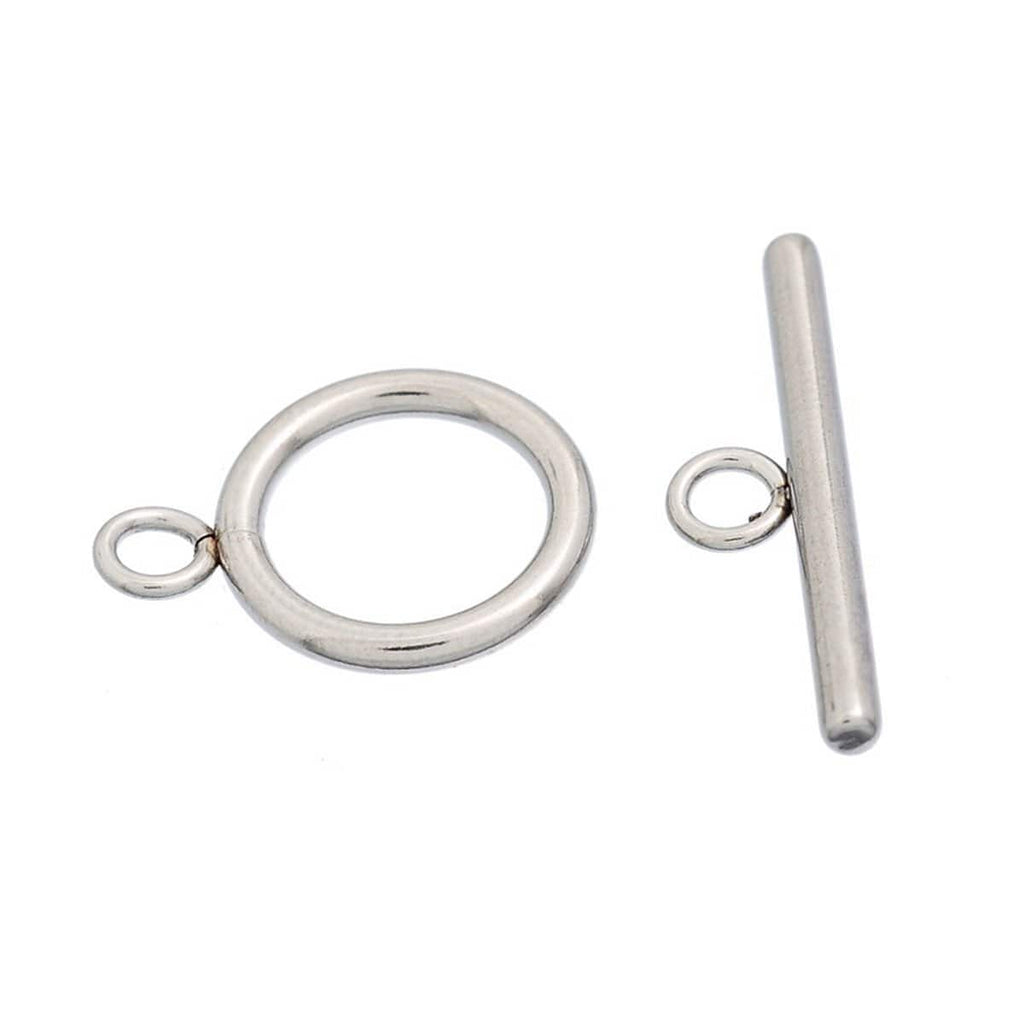 2 Sets Stainless Steel Toggle Clasp Connectors
