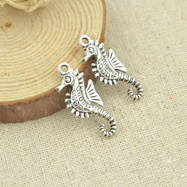 20 pcs 29*12 mm Sea Horse Antique Silver Charms