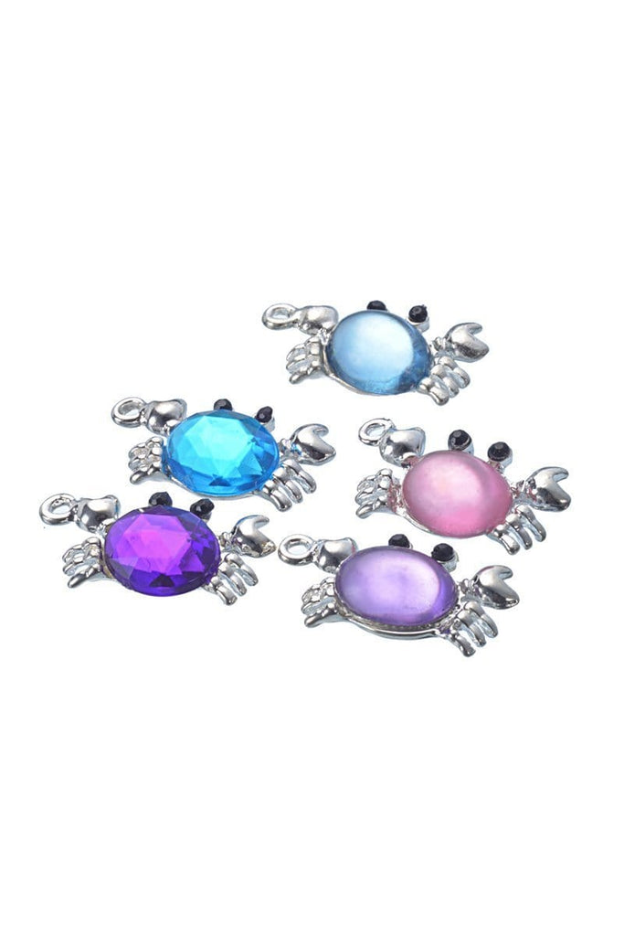 20 PCs Cute colorful Crab Charms