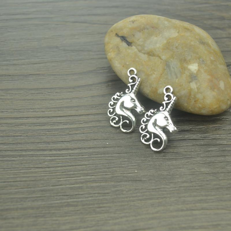 20_pcs/lot_Unicorn_Antique_Silver_charms