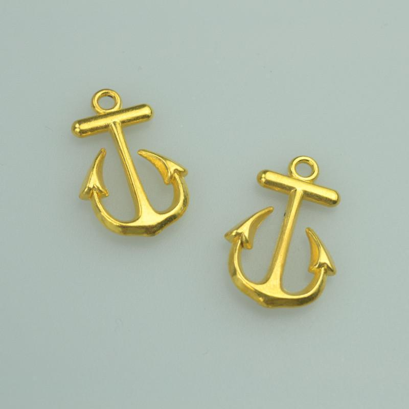 20pcs 23*15mm Gold Anchor Charms