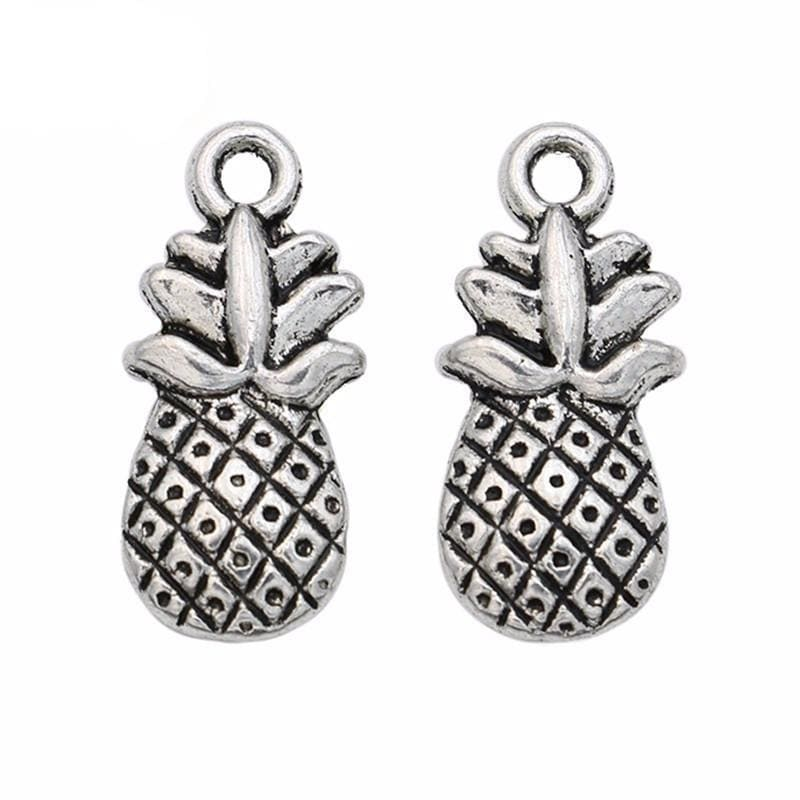 20pcs Antique silver Pinapple Charms 19x9 mm