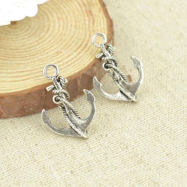 20pcs metal antique silver anchor charms for DIY jewelry making 26*18 mm
