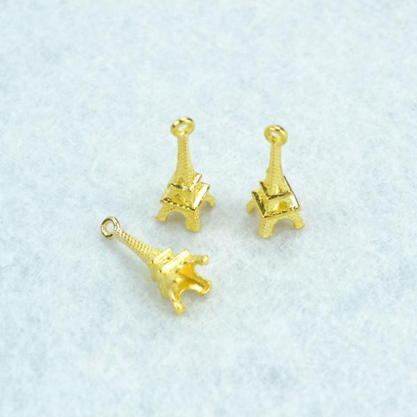 25pcs__Gold_color_Eiffel_Tower_Charms_22*8_mm