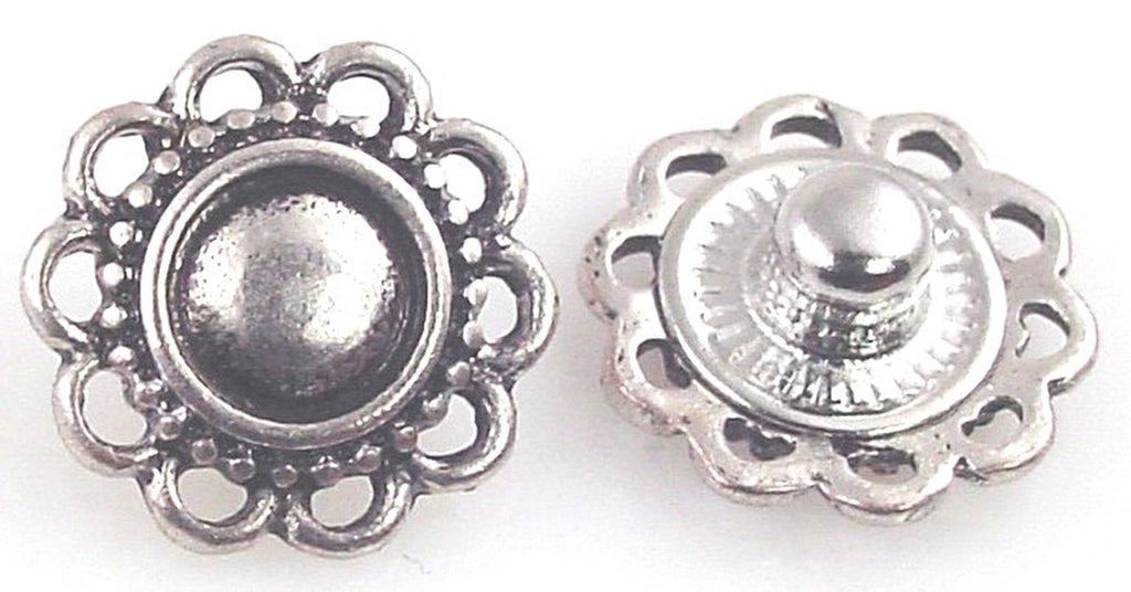 2 basic floral designs in platinum silver small wink 10875-F5