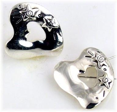 2 heart and star 2 strings slider beads 10016-F5