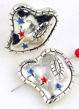 2 heart and star two hole slider beads 10018-m9