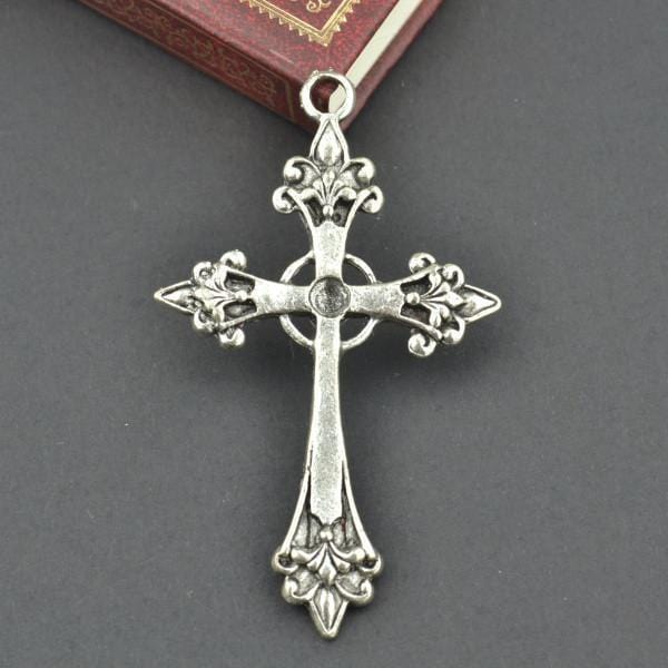 3_Pcs_metal_cross_Charm_Antique_Silver_Charms