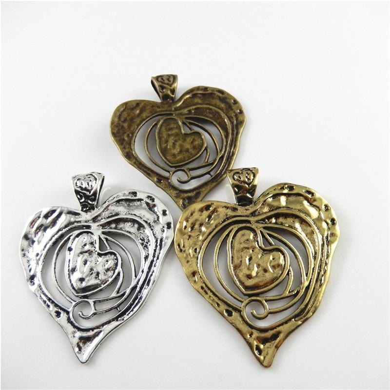 3_PCS_Mixed_Metal_Charms_Hearts_with_Swirl_70*64*2mm