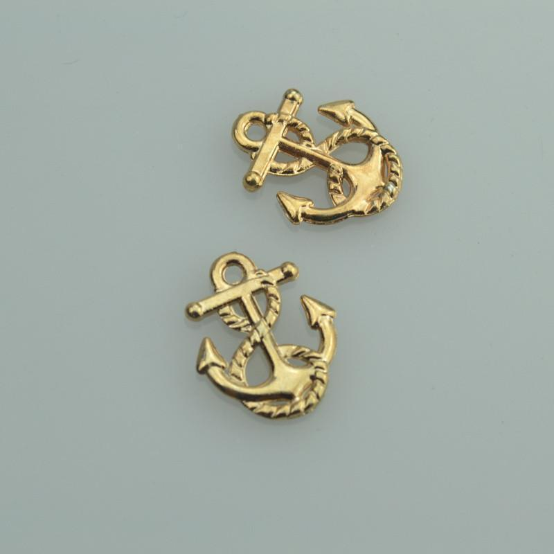 30 pcs anchor 17*14 mm Gold Anchor Charms