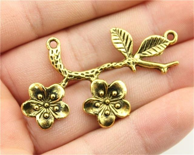3pcs Flower Branch Charms