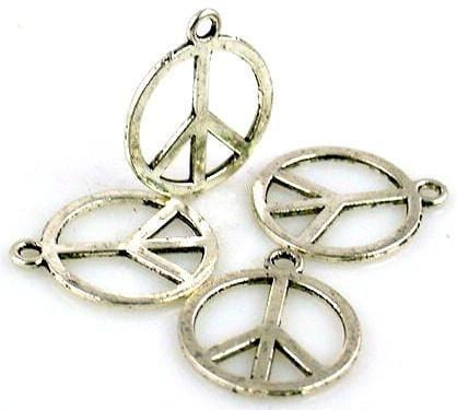 4 Large Peace sign peace symbol charm 6852-h12