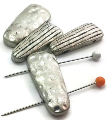 4_Pewter_silver_Textured_2_hole_Beads_Slider_Beads_m187-R5
