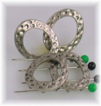 4 Ring style slider multi-hole slider beads 7357-N5