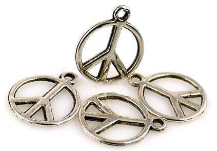 4 Small Peace sign peace symbol charm 6841-BOX