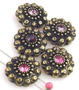 5_antique_Pink_and_Purple_brass_2_hole_beads_10764-I1