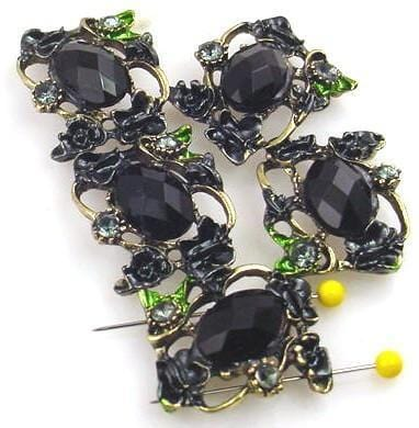 5 floral 2 hole slider beads 10091-M7