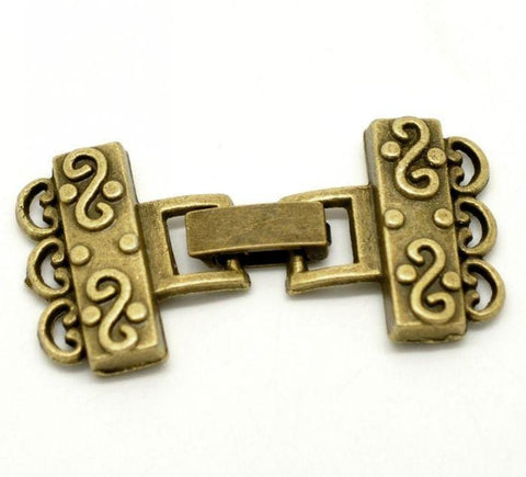 5_Sets_Antique_Bronze_Fold_Over_3_Strand_Clasp_4.6x2.3cm