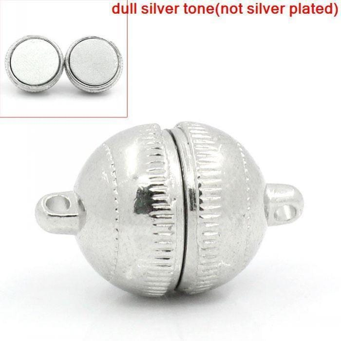 "5_Sets_Silver_Tone_Magnetic_Clasps_19x12mm(6/8""x4/8"")"