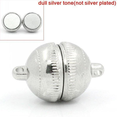 "5 Sets Silver Tone Magnetic Clasps 19x12mm(6/8""x4/8"")"