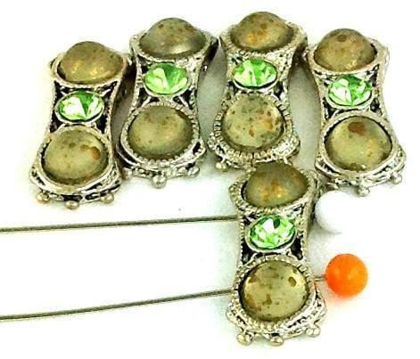 5_Silver_Lucite_2_Hole_Beads_B54-R1