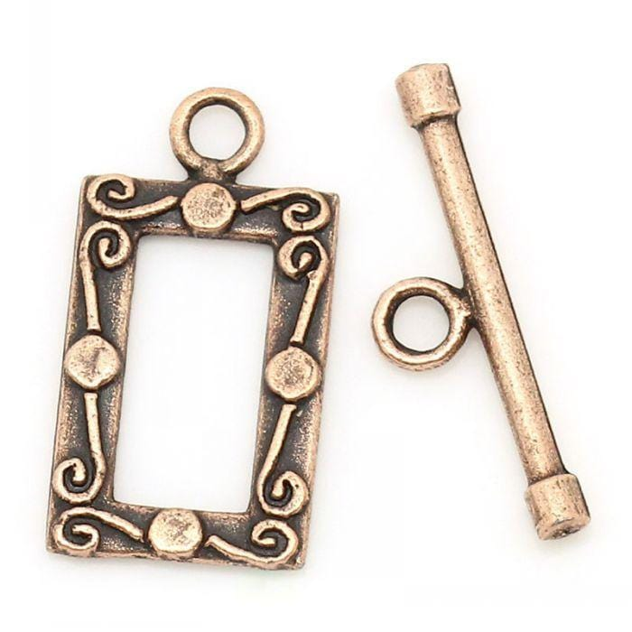 50  antique Copper Clasps Toggle Clasps