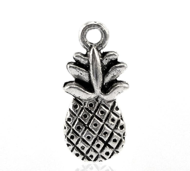 50 PCs Fruits Shape Pendant Pinapple Charms 19x9mm