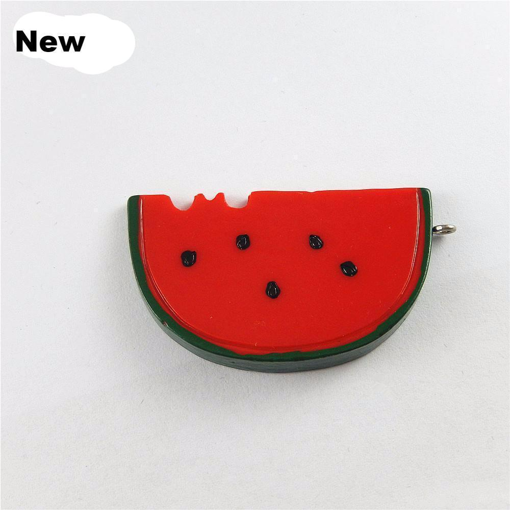 5PCs Resin Charms Watermelon Charm Design
