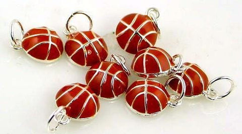 6 basketball ball charms charm 6539-M14