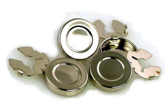 6 button covers platinum silver 6268-H3