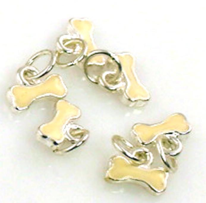 6 dog bone charms 11208-H15