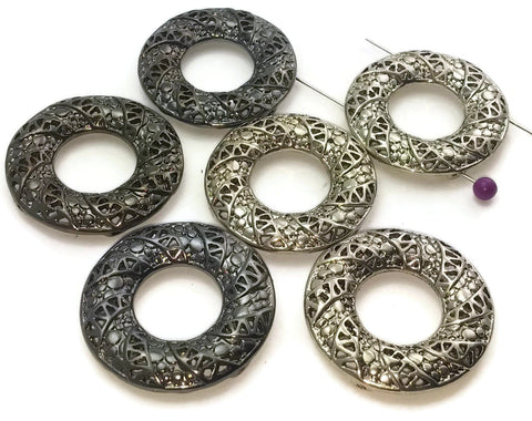 6_Gun_Metal_and_Platinum_Silver_in_a_Donut_Shape_2_Hole_Slider_Beads_203-H3