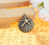 60 Charm Pendants Shells and starfish - mobile-boutique.com