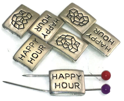 7 happy hour 2 hole beads slider beads d177-S1
