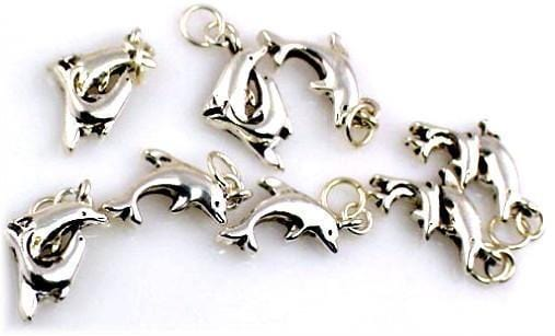 8 silver dolphin dolphins charms charm 10146-R8