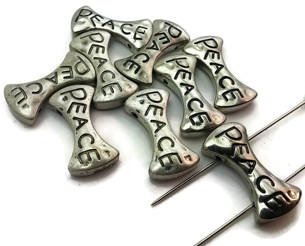 9_Silver_Peace_Unique_Inspirational_Bow_Tie_Shaped_2_Hole_Beads_Slider_Beads_m174