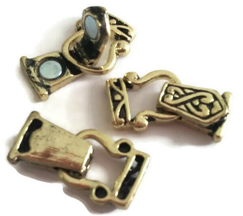 Fold Over Magnetic Clasps Gold Celtic 9468