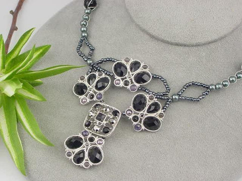 Black_wire_wrap_slider_bead_necklace-idea