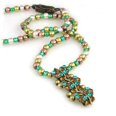 Blue Zircon Butterfly slider bead necklace-idea