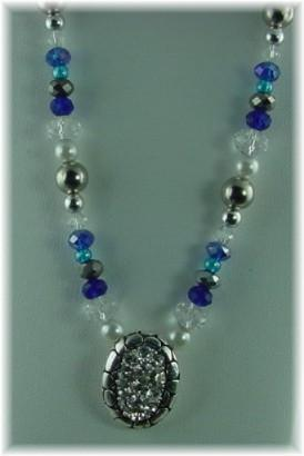 Clear Rhinestone Slider Bead Necklace-idea