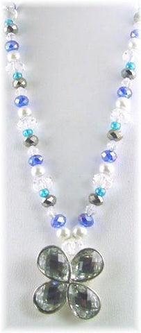 Clover design 2 hole slider bead necklace-idea