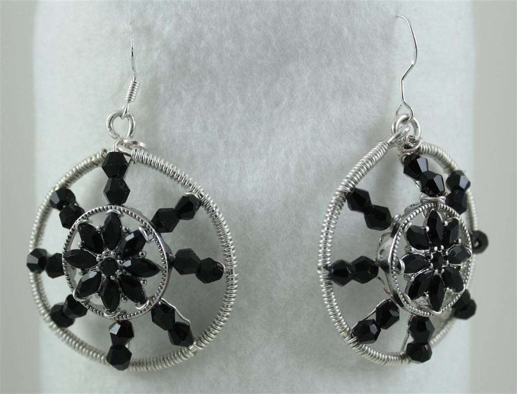 Dangle Earrings made with Slider bead as focal-idea
